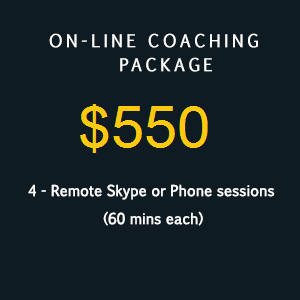 On-line coaching package 550